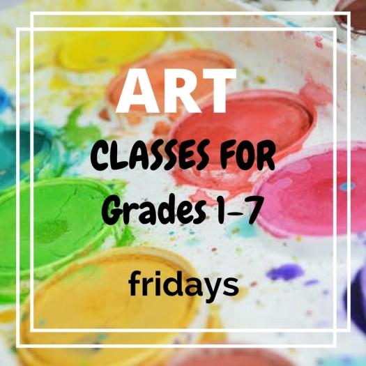 ART classes for grade 1-7